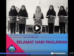 Pengurus OSIS UPT SMPN 4 Benteng Selayar Rilis Video Ucapan Selamat Hari Pahlawan