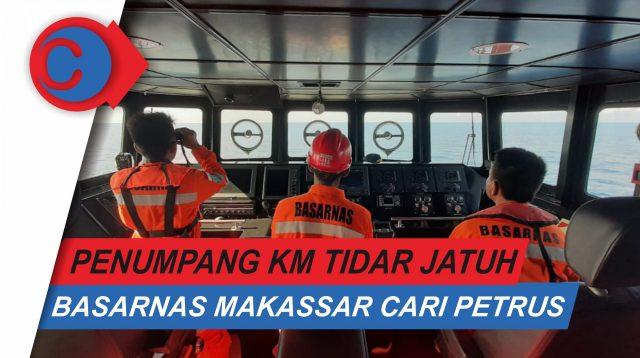 VIDEO: Basarnas Makassar Masih Cari Penumpang KM Tidar yang Jatuh