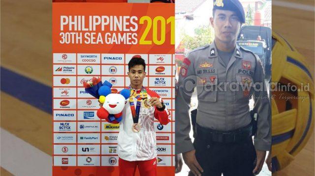 Anggota Polri Polda Sulsel Asal Selayar Ini Sabet Emas di Sea Games 2019 Filipina
