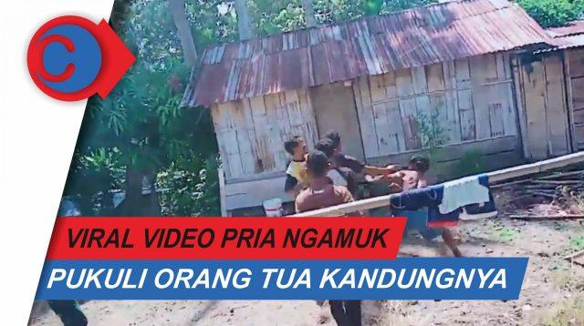 VIDEO: Viral, Seorang Anak Tega Pukuli Orang Tua Sendiri