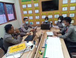 Hari Pertama Pelaksanaan Verifikasi Online, Panitia Polres Maros Gelar Rapat Internal