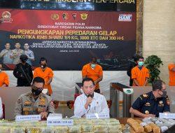 Pengungkapan Peredaran Gelap Narkotika Jenis Shabu 159 Kg, 3.000 XTC dan 300 H-5