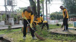 Wakapolda Sumsel Laksanakan Program Sabtu Bersih Serentak