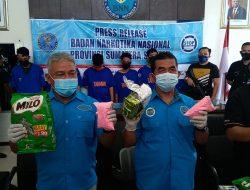 4.6 Kg Sabu, 7.000 Butir Pil Exstasi Inek Diamankan BNNP Sumsel, Tiga Tersangka di Tangkap.