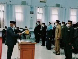 Bupati Enrekang Ambil Sumpah 137 PNS atas Pengukuhan Jabatan Pimpinan Tinggi Pratama