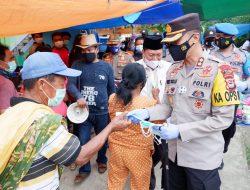 3000 Masker dan 1000 Handsanitiser Dibagikan Polres Tana Toraja
