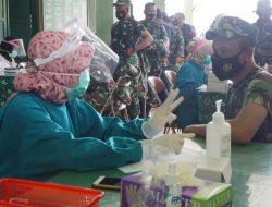 Ratusan Prajurit TNI dan PNS Kodim Pekalongan Sudah Mengikuti Vaksinasi Tahap II