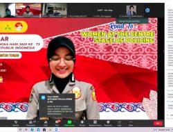 Serdik Sespimen Polri, Kompol Ratna Isi Webinar Hari Jadi ke-73 Polwan