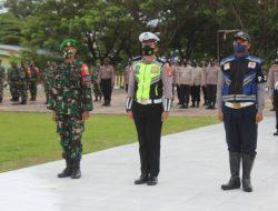 Sejumlah Personil Polres Jeneponto Ikuti Apel Gelar Ops Patuh 2021