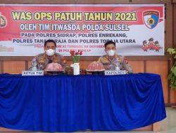 Polres Sidrap Terima Kunjungan Tim Itwasda Polda Sulsel dalam Rangka Was Ops Patuh 2021